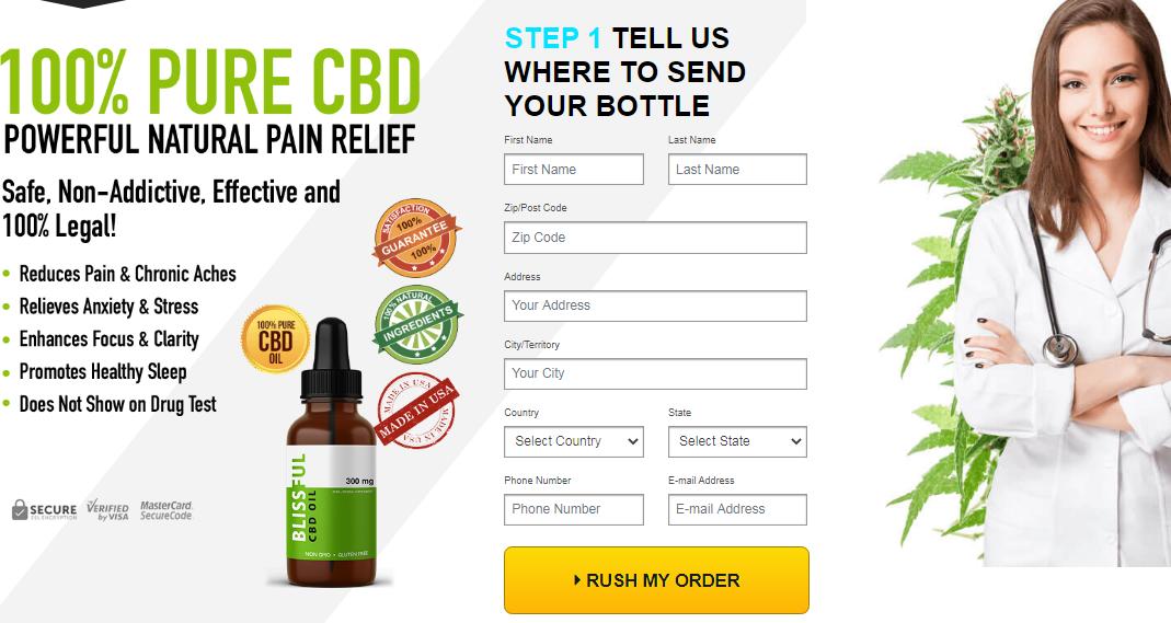 Blissful CBD Oil (New 2020) Safe, Non-Addictive, Effective and 100% Legit