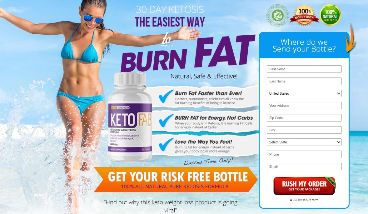 Keto Fab® *UPDATE 2020* #1 USA New Burn Fat Ketogenic Formula!