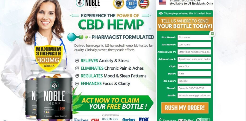 Noble CBD Gummies *UPDATE 2020* Price, Is It Scam or Legit?