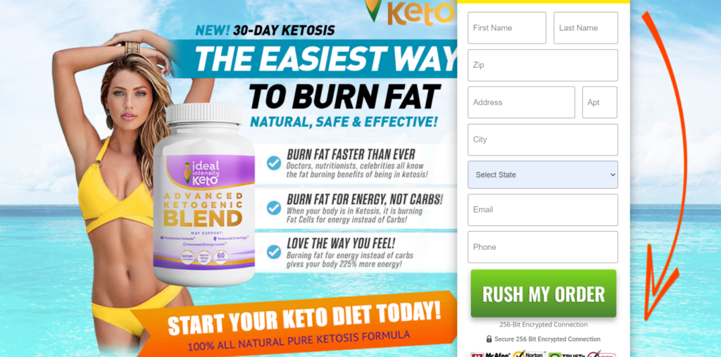 Ideal Intensity Keto Advanced Ketogenic Blend ® 100% More Effective Pills