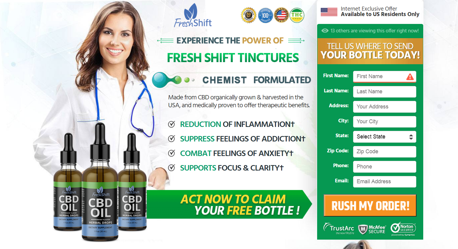 Fresh Shift CBD Oil【ACTIVE 2020 】Price, Benefits, Scam, Reviews?