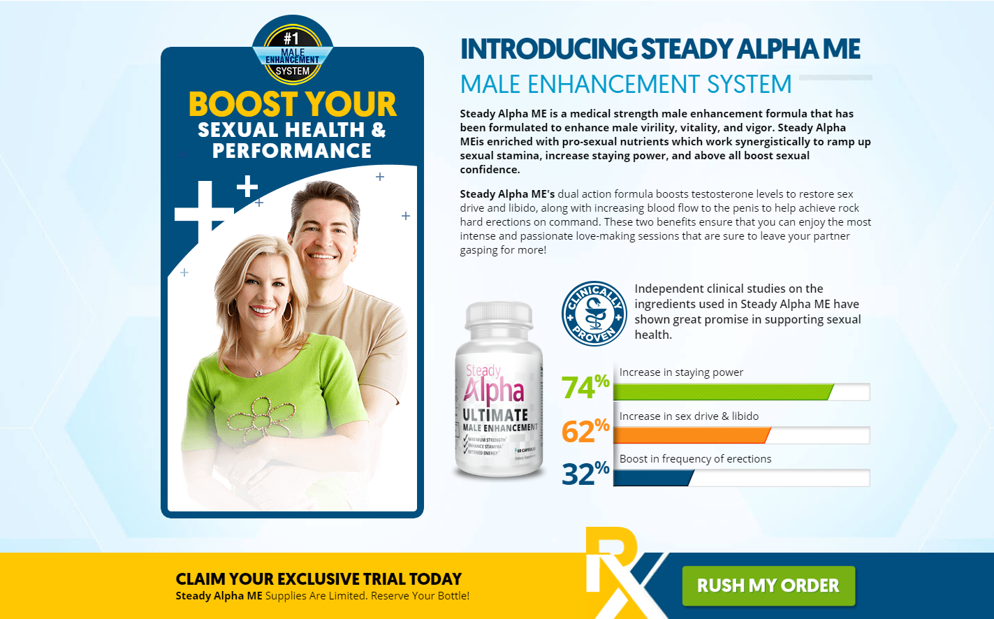 Steady Alpha ™ | Seady Alpha Male Enhancement ® Price, Ingredients?
