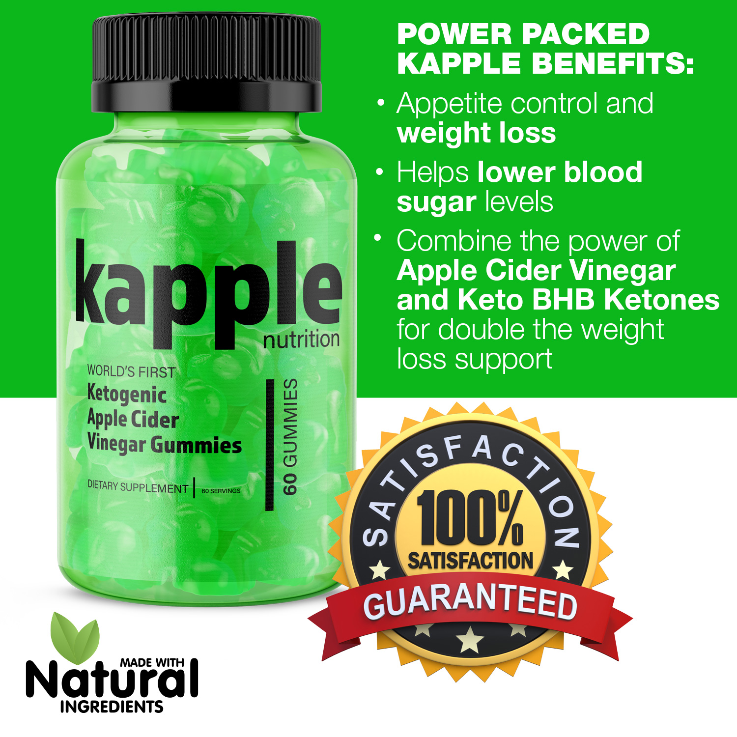 Kapple Keto ® *Kapple Nutrition* Faster Weight Loss & Reduced Appetite!