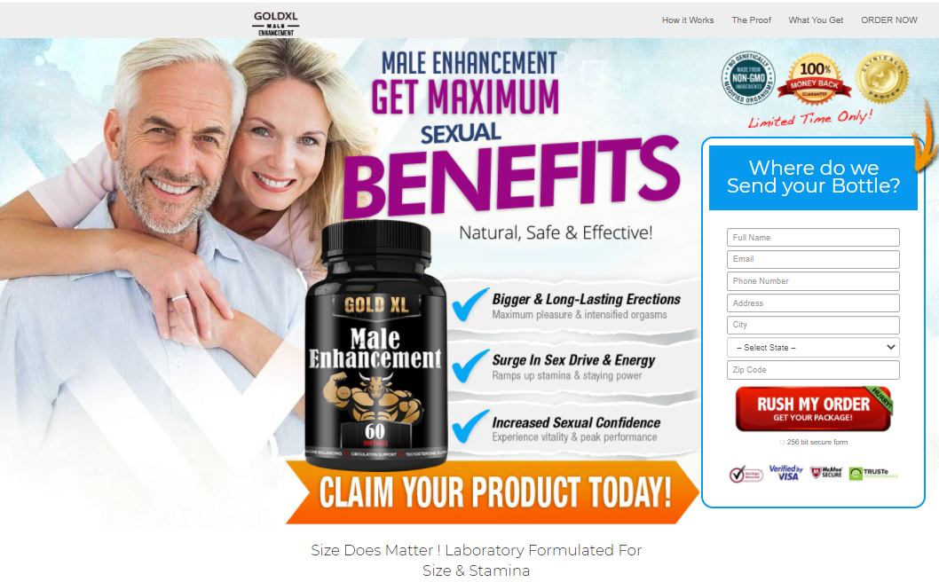 Gold XL Male Enhancement® *UPDATE 2021* Price, Scam, Reviews?