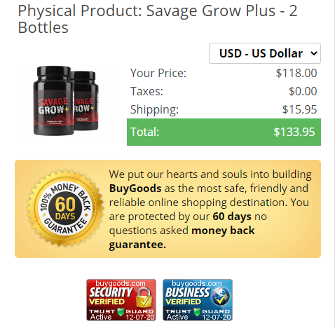Savage Grow Plus Male Enhancement® *UPDATE 2021* Really Works?