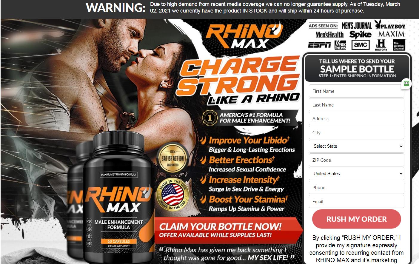 Rhino Max Male Enhancement® *Modify 2021* Price, Benefits, Reviews?