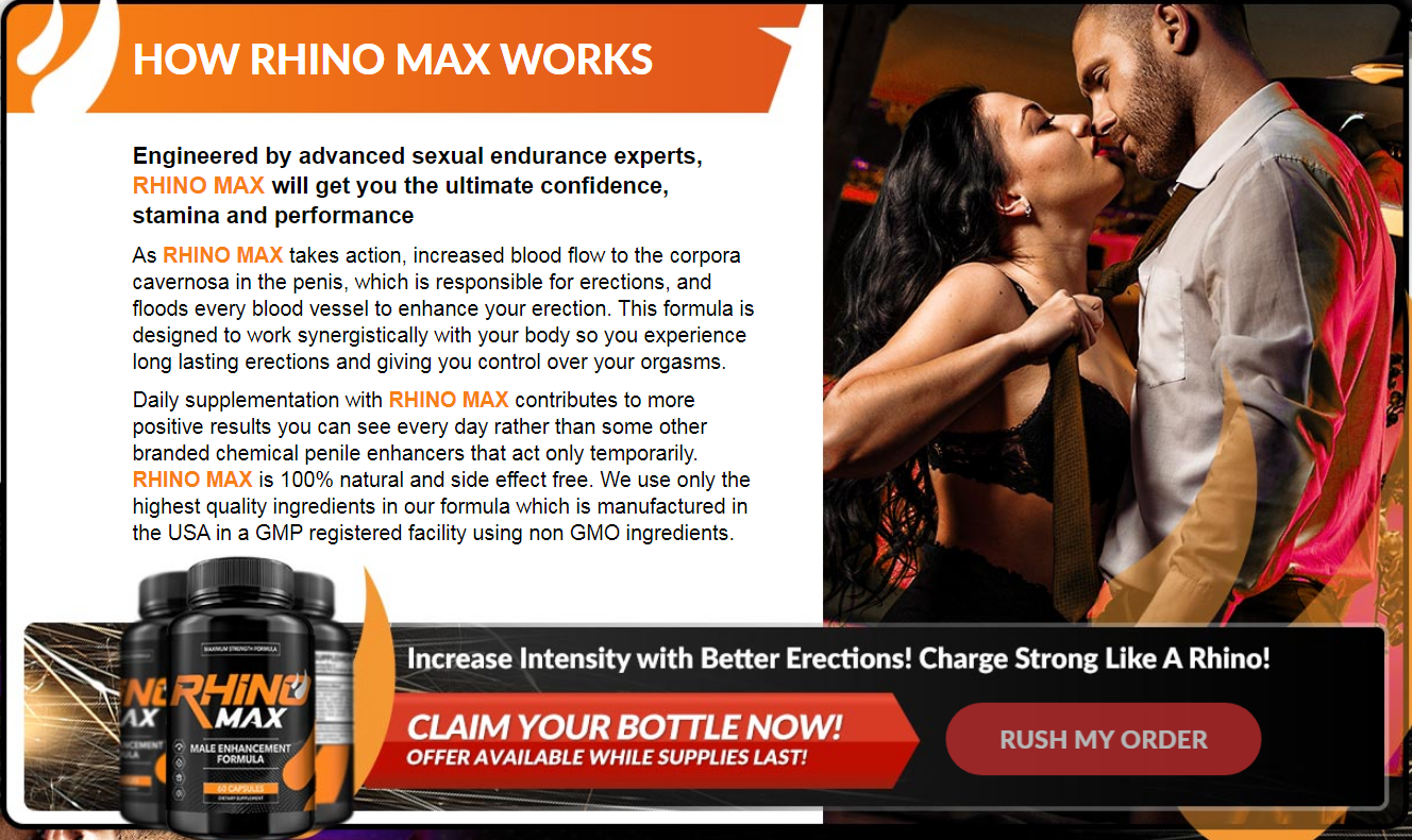 Rhino Max Male Enhancement® *Modify 2021* Price, Benefits, Reviews?