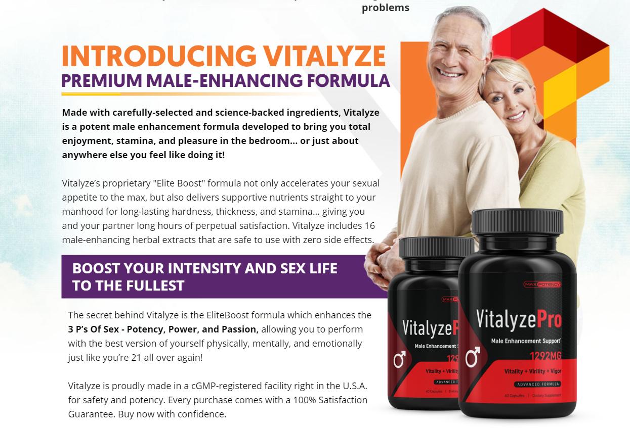 "Vitalyze Pro ""Vitalyze Pro Male Enhancement Support"" Its Really Works?"