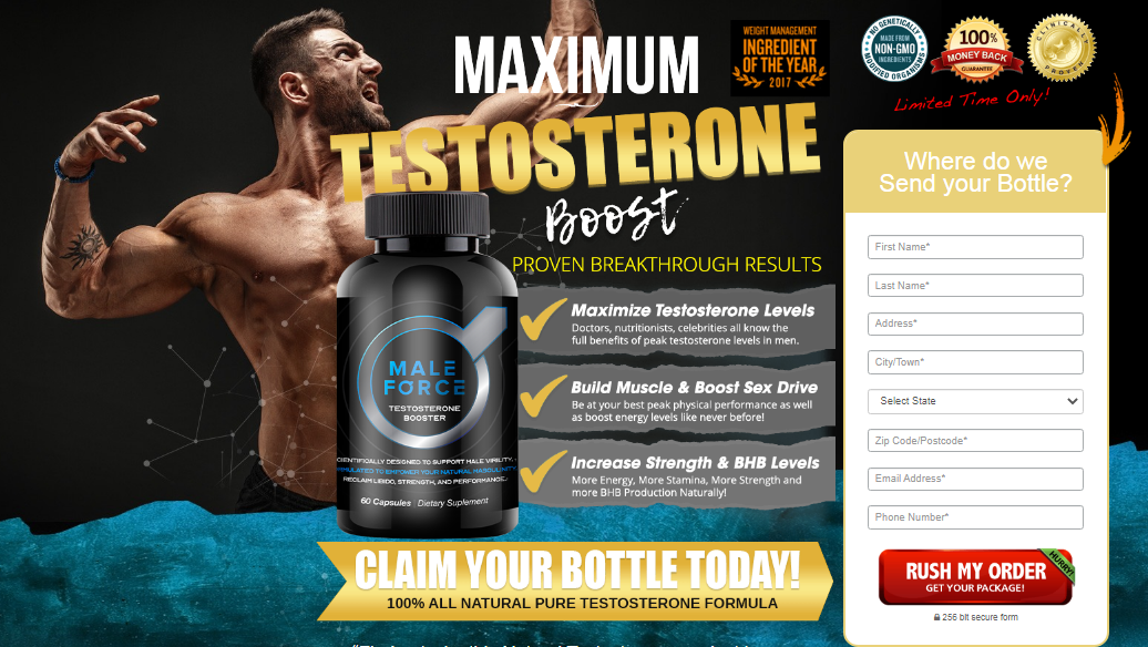 Male Force Testosterone Booster : Scam, Ingredients, Reviews?