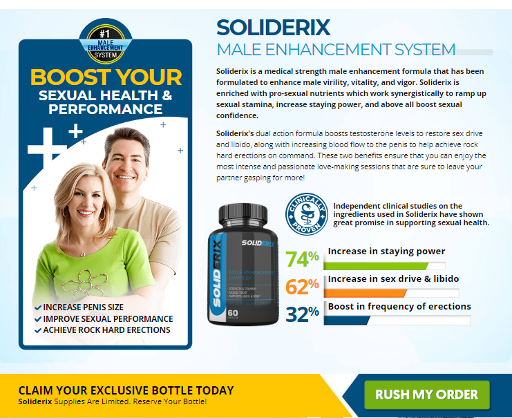 Soliderix Male Enhancement : Scam, Ingredients, Reviews?